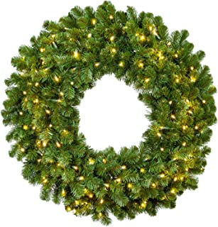 Sequoia Fir Commercial-Grade Traditional Christmas Wreath and Matching Christmas Garland Greenery (48