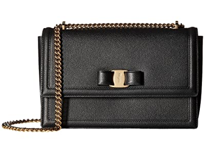 Salvatore Ferragamo Ginny Shoulder Bag (Nero) Handbags