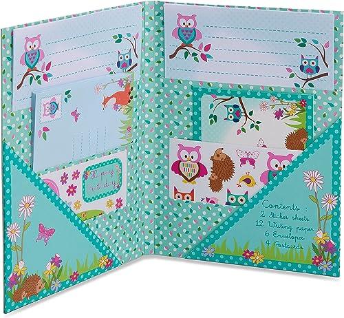 Lucy Locket - Papier à Lettres Forêt Enchantée pour Enfants (Set Papeterie: Papier à Lettres, Enveloppes et Cartes P...