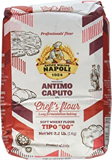 Antimo Caputo Chef's Flour 2.2 LB - Italian Double Zero 00 - Soft Wheat for Pizza Dough, Bread, & Pasta