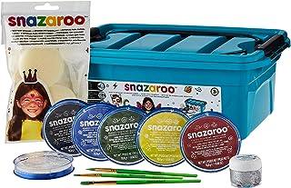 Snazaroo Make-up voor beginners - koffer, 6 kleuren & glittergel met 3 kwasten, 2 sponsjes & make-upboek