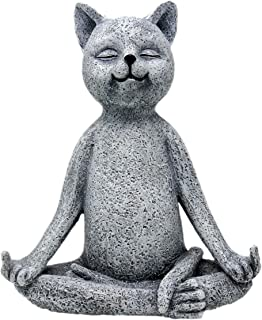 Funny Guy Mugs Garden Gnome Statue - Middle Finger Cat - Indoor/Outdoor Garden Gnome Sculpture for Patio, Yard or Lawn