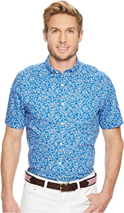 Vineyard Vines - Linear Floral Short Sleeve Slim Murray