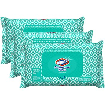 Clorox Disinfecting Bleach Free Cleaning Wipes, 75 Wipes, Pack Of 3 (Packaging May Vary)