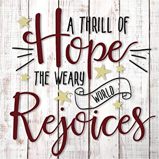 MRC Wood Products A Thrill of Hope Christmas Wall Sign 12x12