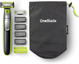Philips 飞利浦 OneBlade混合型面部及身体修剪器,4 种长度,1个额外刀头和旅行袋,(英国双针浴室插头) - QP2630 / 30