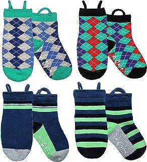 Calcetines de chico con puntera sin costura y sin deslizamiento, tira hacia arriba