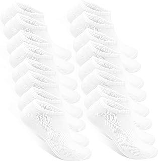 STYLE FOREVER, Premium Calcetines Ankle para Mujeres y Hombres (8 Pares) Calcetines Cortos Hechos de Algodón para el Deporte, la Vida Cotidiana y Trabajo