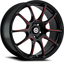 Konig Illusion Black Ball Cut Red Wheel (17x7