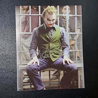 Heath Ledger - Autographed Signed 8x10 inch Photograph Poster BATMAN Dark Knight Rises COA 02