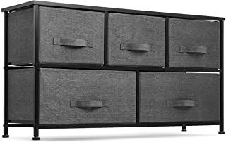 5 Drawer Dresser Organizer Fabric Storage Chest for...