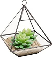 Hanging Clear Glass Prism Air Plant Terrarium/Tabletop Succulent Planter/Tea Light Candle Holder