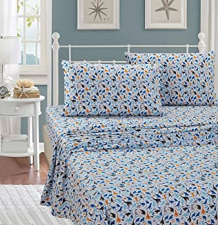 Better Home Style Dinosaur Jurassic Park World White Blue Grey and Tan Kids/Boys/Toddler 3 Piece Sheet Set with Pillowcase Flat and Fitted Sheets # Royal Dino (Twin)