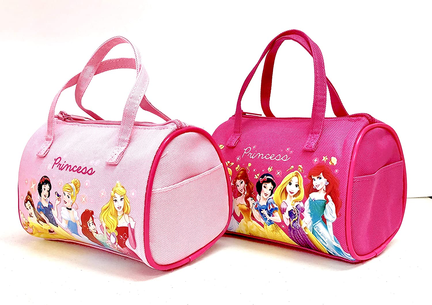 Disney Princess Small Hand Bag for Little Girl  7  4 Pink & Hot Pink (2 Packs) by Disney