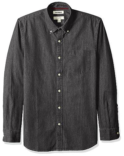 74c8b666db4 Black Denim Shirt  Amazon.com