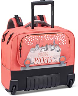 Delsey Paris Back to School 2020 Rucksack 15.6 Inches Ergonomic Horizontal System Coral Pink