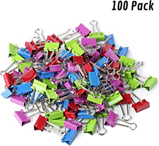 Mr. Pen Colored Binder Clips, Small, Pack of 100