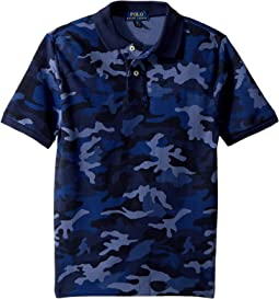 Camo Mesh Polo Shirt (Big Kids)