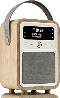 VQ Audio 11010 Monty DAB & DAB+ Digital Radio with FM & AM, Bluetooth & Alarm Clock- Real Wood Case Oak