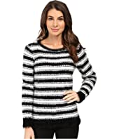 Calvin Klein - Stripe Eyelash Crew Neck Sweater