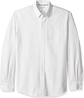Amazon Essentials Men's Regular-Fit Long-Sleeve Stripe Oxford Shirt