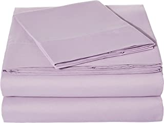 AmazonBasics Light-Weight Microfiber Sheet Set - Twin, Frosted Lavender