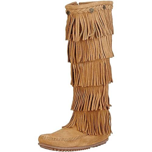dc71a3335ae Minnetonka Women s Layer Fringe Boot