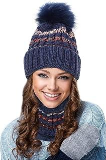 EGOGO Beanie Hat Scarf Set Snow Knitting Skull Hat Ski Fleece Lining Skull BeanyCap for Women E601-8