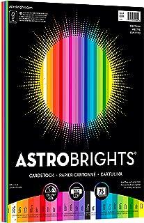 "Astrobrights Colored Cardstock, 8.5� x 11�, 65 lb / 176 gsm, ""Spectrum"" 25-Color Assortment, 75 Sheets (80944-01)"