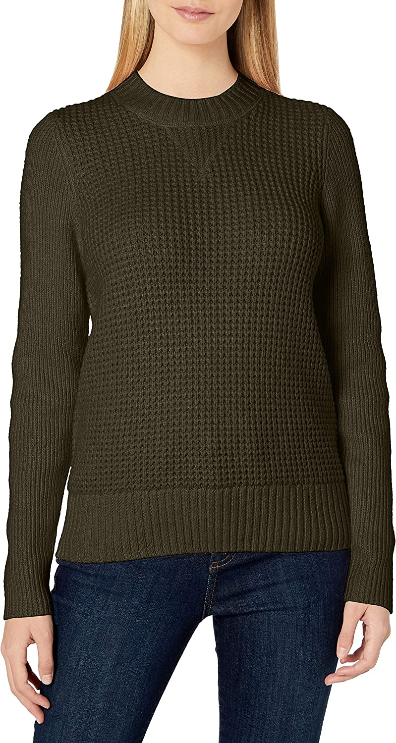 Ranking Wholesale TOP12 Lucky Brand Women's Crew Waffle Neck Knit Sweater