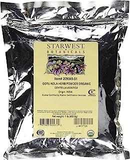 Starwest Botanicals Organic Gotu Kola Herb Powder - Wildcrafted Centella Asiatica, 1 Pound
