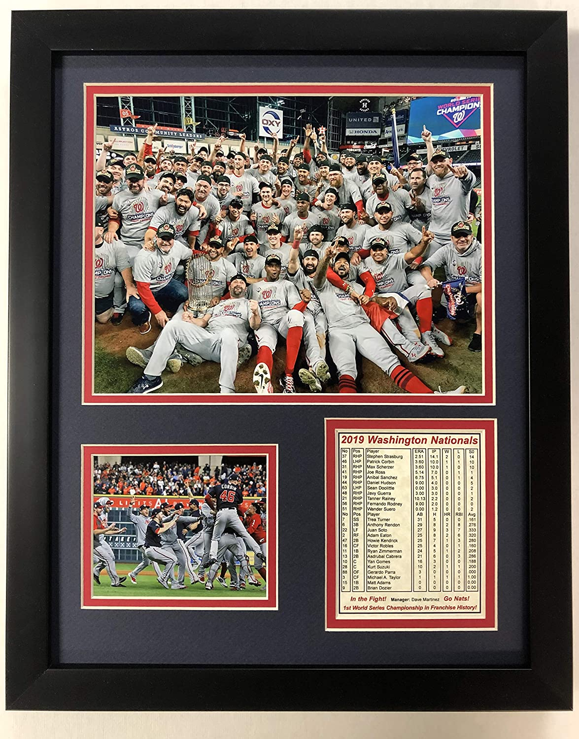 Nationals 2019 MLB World Outlet ☆ Free Shipping Series Indefinitely Framed Champs Team Collectible