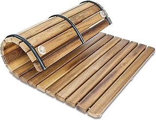 Tarima / Alfombrilla FLEXIBLE para ducha y baño, en madera