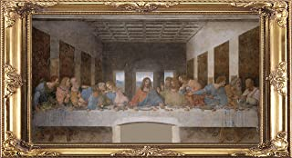 Fabulous Décor - Wall Classic Masterpiece Art, High Definition Large Vinyl Decal Sticker of Framed The Last Supper, Leonar...