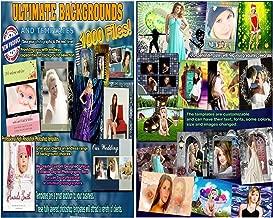 ULTIMATE Digital Backdrops BACKGROUNDS Chroma Key Muslin Photo PSD Templates