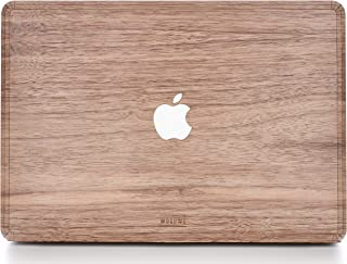 WOODWE Real Wood MacBook Skin for Mac Pro 15 inch Touch Bar Edition | Model: A1707/A1990; Late 2016 – Mid 2018 | Natural Walnut | TOP ONLY