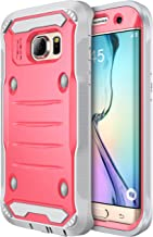 E LV Case for Galaxy S7 Edge Case Hybrid Armor Protection Defender (Without Built-in Screen Protector) Case for Samsung Galaxy S7 Edge - [RED Melon/Grey]