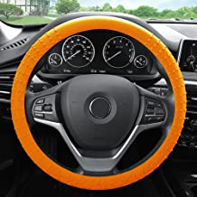 FH Group FH3002ORANGE Orange Steering Wheel Cover (Silicone W. Nibs & Pattern Massaging grip Wheel Cover Color -Fit Most Car Truck Suv or Van)