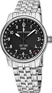 Revue Thommen AirSpeed XLarge Mens Automatic Watch Stainless Steel Band - 40mm Analog Black Face with Second Hand, Date and Sapphire Crystal Watch - Swiss Made Casual Luxury Watches For Men 16050.2137