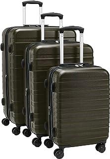Amazon Basics Lot de valises rigides et solides, de qualité supérieure, 56cm, 68cm, 78cm - Vert