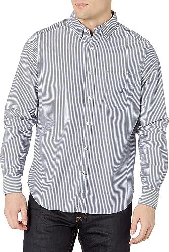 Nautica Camisa de manga larga elástica para hombre