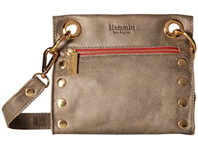 Hammitt Tony Small (Pewter/Gold/Red Zipper) Cross Body Handbags