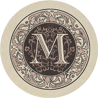 Thirstystone Absorbent Monogram Sandstone Coaster Set, Letter M