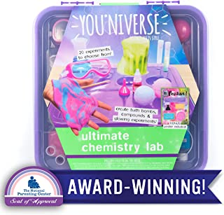 YouNiverse Chemistry Lab by Horizon Group Usa, Explore Over 20 Stem Science Experiments, Create Bathbombs, Gooey Slime, Crystal, Fizzing Explosions & More, Multicolor