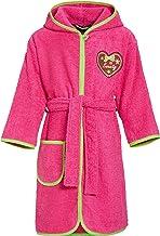 Playshoes Kinder Frottee-Bademantel Herzchen Sweety mit Kapuze, flauschig warmer Morgenmantel für Mädchen