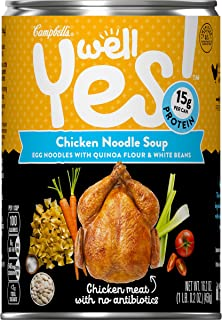 Campbell's Well Yes! Chicken Noodle Soup, 16.2 oz. Can (Pack of 12)