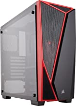 CORSAIR Carbide SPEC-04 Mid-Tower Gaming Case, Tempered Glass- Red