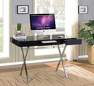 black and chrome desk