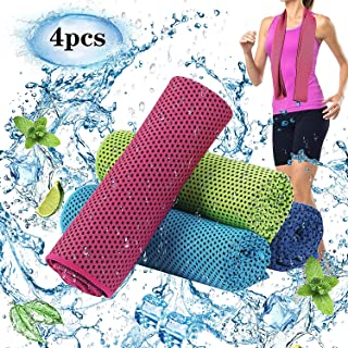 """Vongsky Cooling Towel (35""""x12""""),Ice Gym Towel,Sport Towels Soft Breathable Chilly Towel,Microfiber Towel for Yoga,Sport,Ru..."""