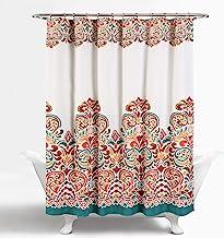 Lush Decor Clara Shower Curtain – Fabric Colorful Boho Paisley Damask Print Design,..